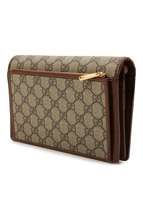 Женские кошелек GUCCI коричневого цвета, арт. 658548/HUHQG | Фото 2 (Материал: Текстиль, Синтетический материал; Кросс-КТ: другое)