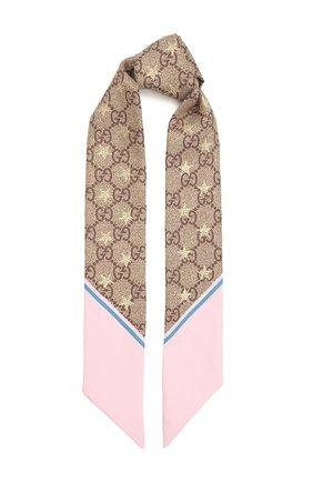 Женский шелковый платок GUCCI разноцветного цвета, арт. 663716/3G001 | Фото 1