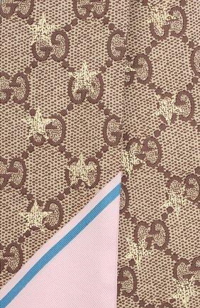 Женский шелковый платок GUCCI разноцветного цвета, арт. 663716/3G001 | Фото 2
