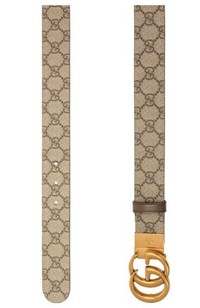 Женский ремень GUCCI коричневого цвета, арт. 659416/92TIC   Фото 2 (Материал: Текстиль, Синтетический материал)