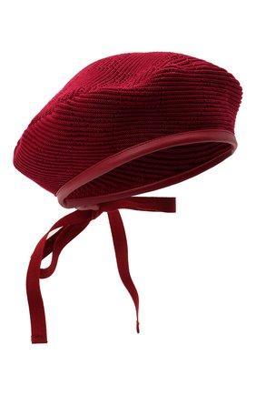 Женский хлопковый берет GUCCI красного цвета, арт. 656574/3HAC5 | Фото 1 (Материал: Хлопок, Текстиль)