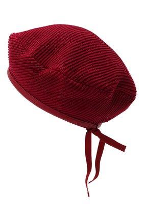 Женский хлопковый берет GUCCI красного цвета, арт. 656574/3HAC5 | Фото 2 (Материал: Хлопок, Текстиль)