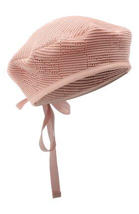 Женский хлопковый берет GUCCI розового цвета, арт. 656574/3HAC5 | Фото 1 (Материал: Текстиль, Хлопок)