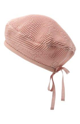 Женский хлопковый берет GUCCI розового цвета, арт. 656574/3HAC5 | Фото 2 (Материал: Текстиль, Хлопок)