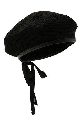 Женский хлопковый берет GUCCI черного цвета, арт. 656574/3HAC5 | Фото 1 (Материал: Текстиль, Хлопок)