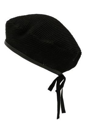 Женский хлопковый берет GUCCI черного цвета, арт. 656574/3HAC5 | Фото 2 (Материал: Текстиль, Хлопок)