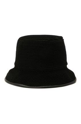 Женская хлопковая панама GUCCI черного цвета, арт. 656573/3HAC2 | Фото 1 (Материал: Текстиль, Хлопок)
