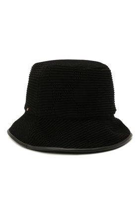 Женская хлопковая панама GUCCI черного цвета, арт. 656573/3HAC2 | Фото 2 (Материал: Текстиль, Хлопок)