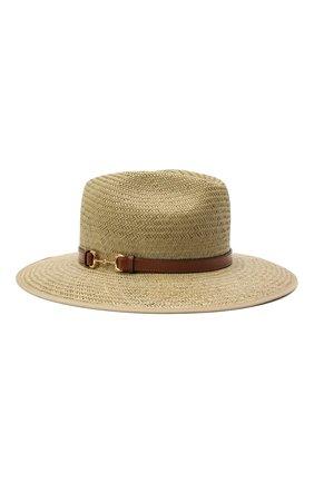 Женская соломенная шляпа GUCCI темно-бежевого цвета, арт. 656516/3HAEI   Фото 1