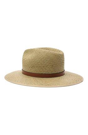 Женская соломенная шляпа GUCCI темно-бежевого цвета, арт. 656516/3HAEI   Фото 2