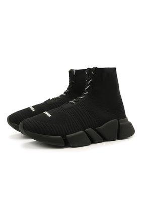Мужские текстильные кроссовки speed 2.0 BALENCIAGA черного цвета, арт. 617258/W2DB1 | Фото 1
