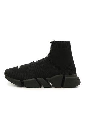 Мужские текстильные кроссовки speed 2.0 BALENCIAGA черного цвета, арт. 617258/W2DB1 | Фото 2
