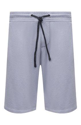 Мужские хлопковые шорты JAMES PERSE голубого цвета, арт. MXA4118   Фото 1