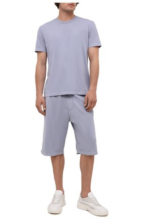 Мужские хлопковые шорты JAMES PERSE голубого цвета, арт. MXA4118   Фото 2