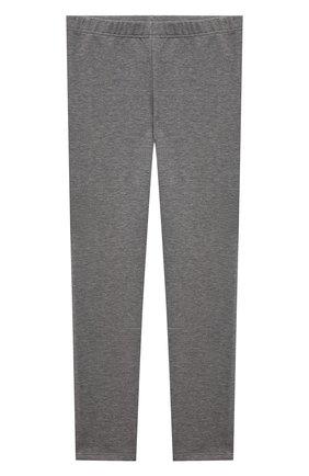 Детские хлопковые брюки IL GUFO серого цвета, арт. A21PL028M0100/10A-12A | Фото 1