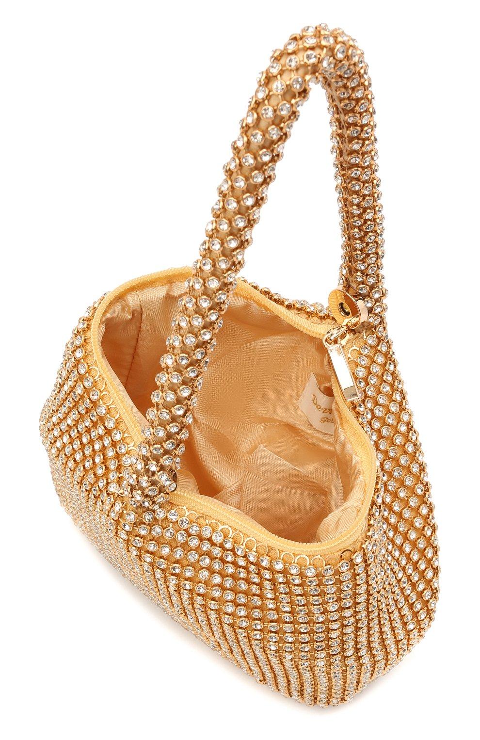 Детская сумка DAVID CHARLES золотого цвета, арт. 7613 | Фото 3 (Материал: Текстиль)