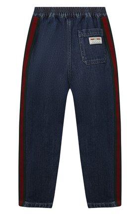 Детские джинсы GUCCI синего цвета, арт. 660168/XDB0Y   Фото 2