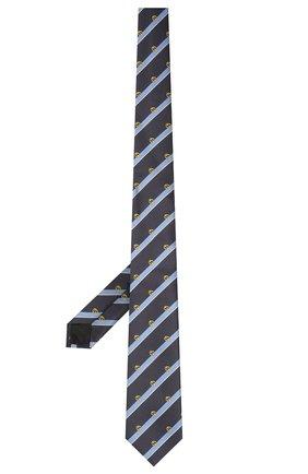 Мужской шелковый галстук GUCCI темно-синего цвета, арт. 660058/4E002 | Фото 2 (Материал: Текстиль; Принт: С принтом)