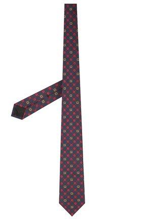 Мужской шелковый галстук GUCCI темно-синего цвета, арт. 658242/4E002   Фото 2