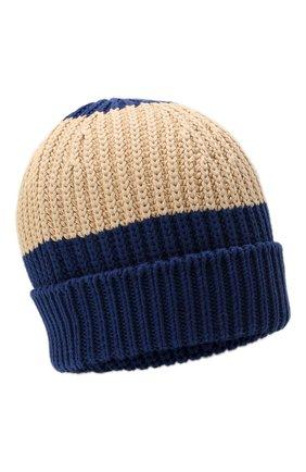 Мужская хлопковая шапка GUCCI синего цвета, арт. 655823/4G111 | Фото 1