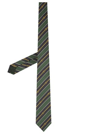 Мужской шелковый галстук GUCCI зеленого цвета, арт. 643929/4E002 | Фото 2 (Материал: Текстиль; Принт: С принтом)