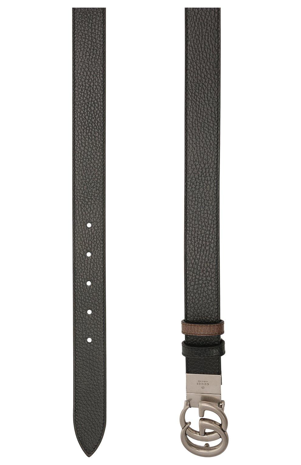 Мужской кожаный ремень GUCCI черного цвета, арт. 643847/CA02N | Фото 2 (Случай: Повседневный; Стили: Кэжуэл)