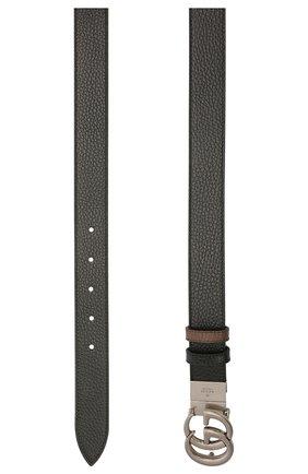 Мужской кожаный ремень GUCCI черного цвета, арт. 643847/CA02N | Фото 2 (Стили: Кэжуэл; Случай: Повседневный)