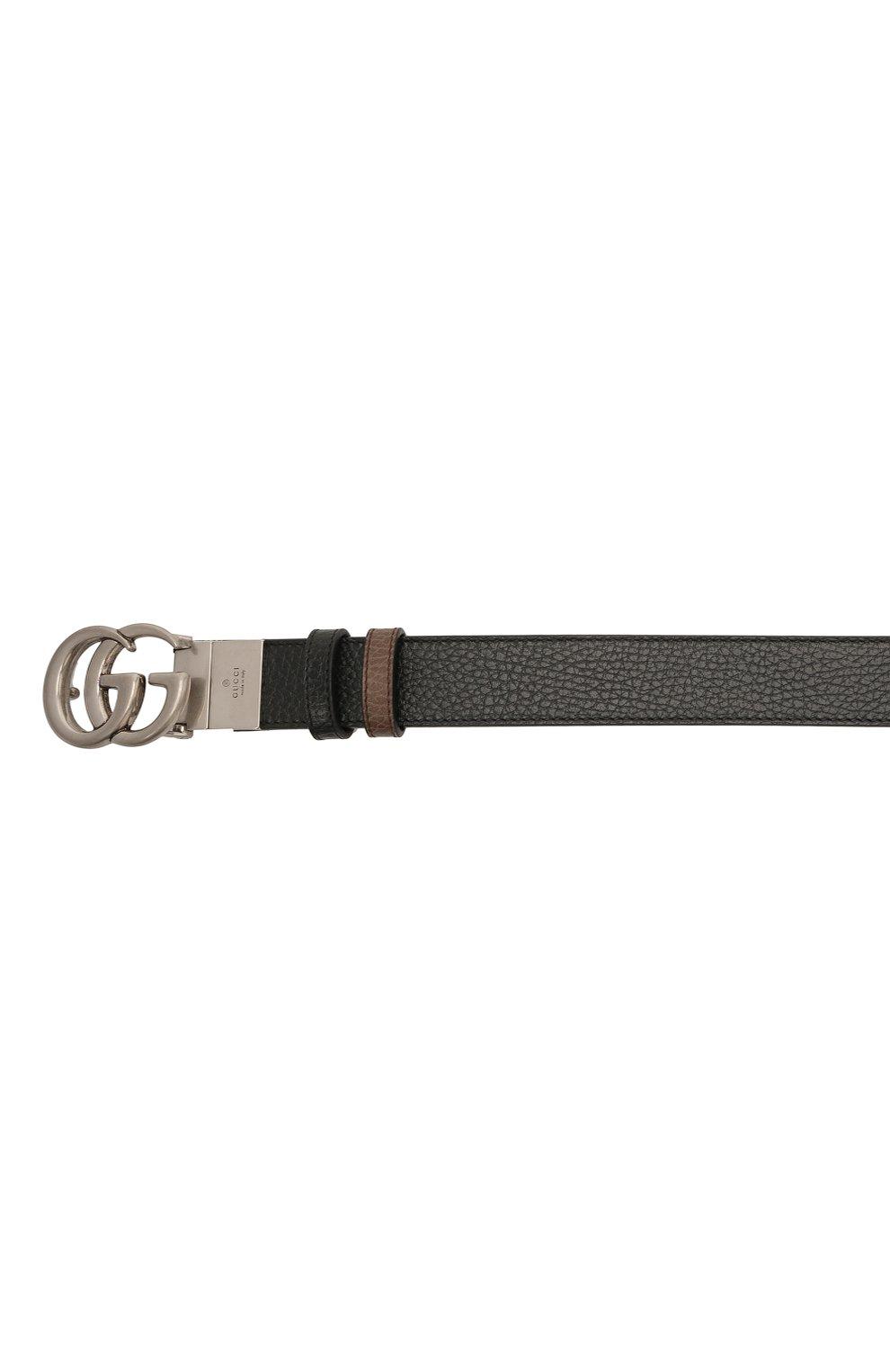 Мужской кожаный ремень GUCCI черного цвета, арт. 643847/CA02N | Фото 3 (Случай: Повседневный; Стили: Кэжуэл)