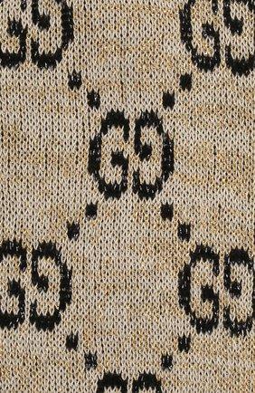 Мужские гольфы GUCCI бежевого цвета, арт. 476525/3G199 | Фото 2