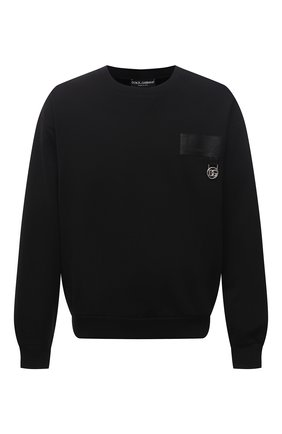 Мужской хлопковый свитшот DOLCE & GABBANA черного цвета, арт. G9UF3Z/G7A2D | Фото 1