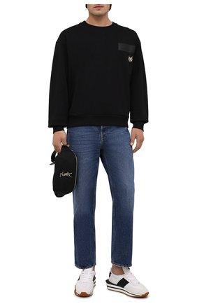 Мужской хлопковый свитшот DOLCE & GABBANA черного цвета, арт. G9UF3Z/G7A2D | Фото 2
