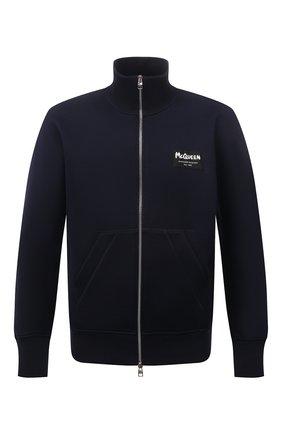 Мужской толстовка ALEXANDER MCQUEEN темно-синего цвета, арт. 664959/QRX55 | Фото 1 (Материал внешний: Хлопок, Синтетический материал; Длина (для топов): Стандартные; Стили: Спорт-шик; Мужское Кросс-КТ: Толстовка-одежда; Рукава: Длинные)