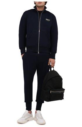 Мужской толстовка ALEXANDER MCQUEEN темно-синего цвета, арт. 664959/QRX55 | Фото 2 (Материал внешний: Хлопок, Синтетический материал; Длина (для топов): Стандартные; Стили: Спорт-шик; Мужское Кросс-КТ: Толстовка-одежда; Рукава: Длинные)