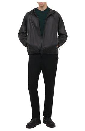 Мужской кожаный бомбер BOTTEGA VENETA черного цвета, арт. 666898/VKVL0 | Фото 2