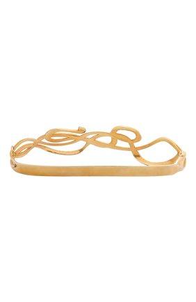 Женский браслет на ладонь serpentes DZHANELLI золотого цвета, арт. 0360 | Фото 2 (Материал: Серебро)
