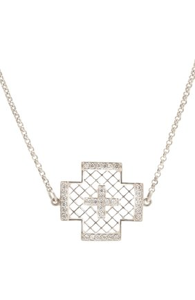 Женское колье крест dashing DZHANELLI серебряного цвета, арт. 042   Фото 2 (Материал: Серебро)