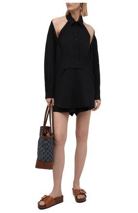 Женская комплект из блузки и шорт RUBAN черного цвета, арт. RPSU21-78.1.51.2   Фото 1