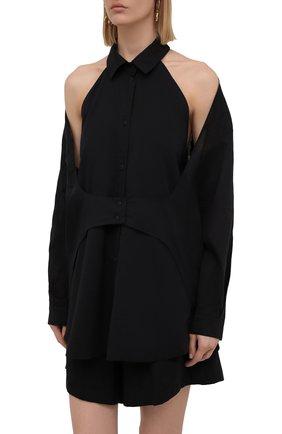 Женская комплект из блузки и шорт RUBAN черного цвета, арт. RPSU21-78.1.51.2   Фото 2