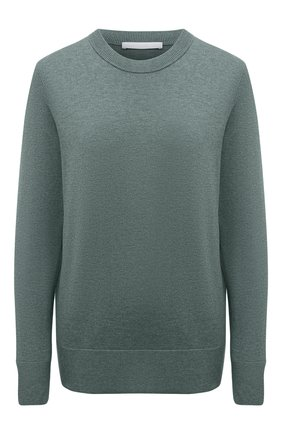 Женский хлопковый пуловер BOSS зеленого цвета, арт. 50436149 | Фото 1