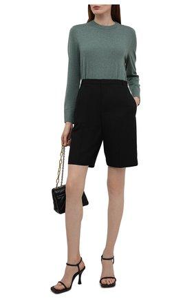 Женский хлопковый пуловер BOSS зеленого цвета, арт. 50436149 | Фото 2