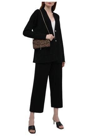 Женские брюки из вискозы BOSS черного цвета, арт. 50454013 | Фото 2