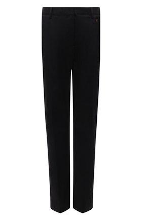 Женские хлопковые брюки ZUHAIR MURAD черного цвета, арт. TRS21316/SAC0002 | Фото 1