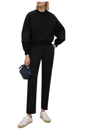Женские хлопковые брюки ZUHAIR MURAD черного цвета, арт. TRS21316/SAC0002 | Фото 2