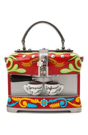 Женская сумка dolce box DOLCE & GABBANA разноцветного цвета, арт. BB5970/AS703   Фото 1 (Ремень/цепочка: На ремешке; Размер: small; Материал: Резина; Сумки-технические: Сумки top-handle)