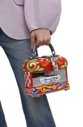 Женская сумка dolce box DOLCE & GABBANA разноцветного цвета, арт. BB5970/AS703   Фото 2 (Ремень/цепочка: На ремешке; Размер: small; Материал: Резина; Сумки-технические: Сумки top-handle)