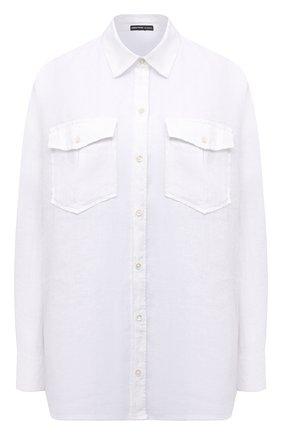 Женская льняная рубашка JAMES PERSE белого цвета, арт. WLSL3647 | Фото 1