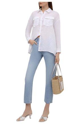 Женская льняная рубашка JAMES PERSE белого цвета, арт. WLSL3647 | Фото 2