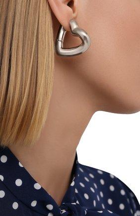 Женские серьги BALENCIAGA серебряного цвета, арт. 657157/TZ16S | Фото 2