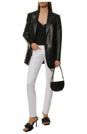Женские джинсы DOLCE & GABBANA белого цвета, арт. FTAH8D/G899M   Фото 2 (Материал внешний: Хлопок; Длина (брюки, джинсы): Стандартные; Стили: Гламурный; Кросс-КТ: Деним; Силуэт Ж (брюки и джинсы): Скинни)