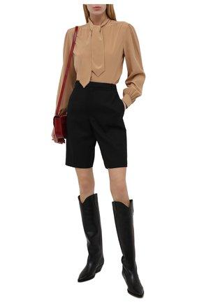 Женские кожаные сапоги denvee ISABEL MARANT черного цвета, арт. DENVEE/BT0072-00M017S   Фото 2 (Материал внутренний: Натуральная кожа; Каблук высота: Низкий; Каблук тип: Устойчивый; Подошва: Плоская; Высота голенища: Высокие)